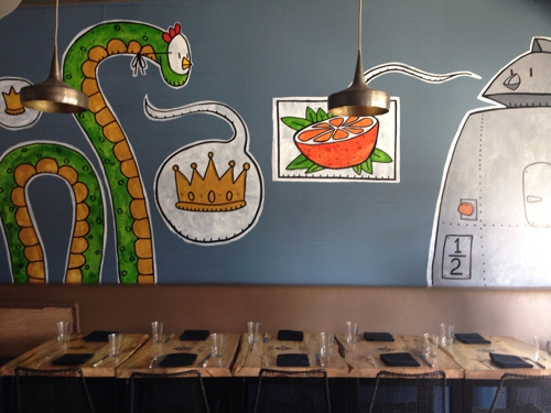 Better Half - Atlanta, GA. What amazing wall decor...