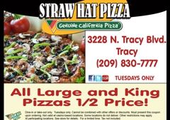 Straw Hat Pizza - Tracy, CA