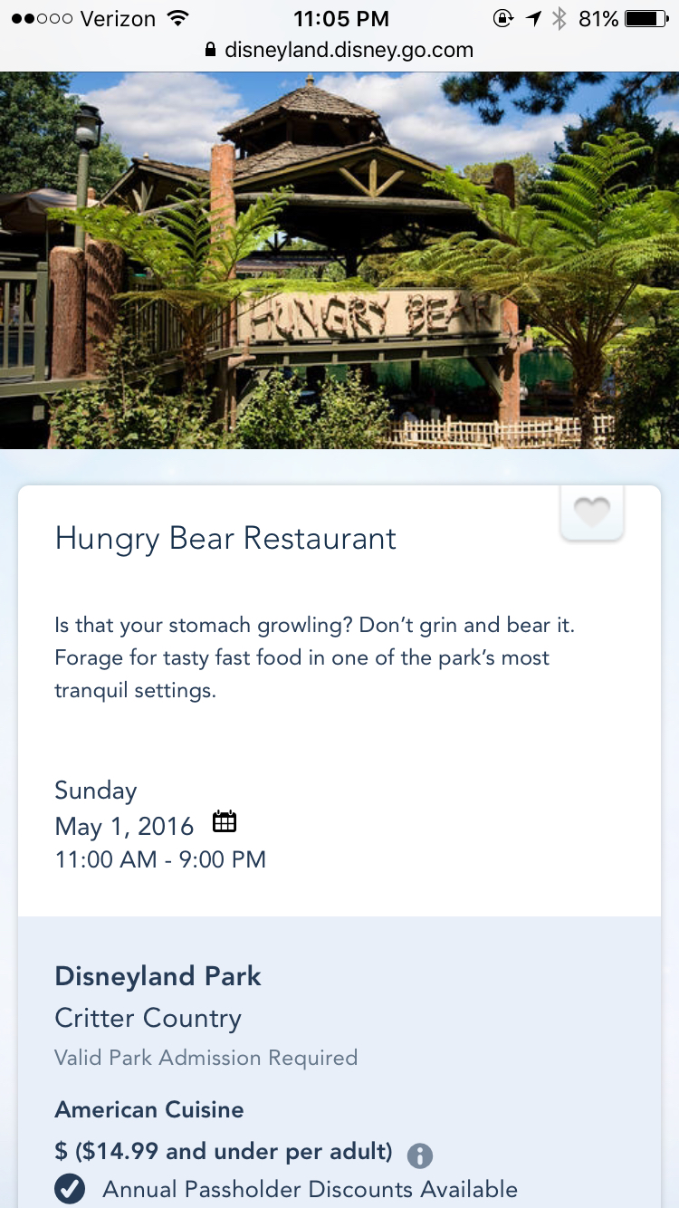 Hungry Bear Restaurant, Fullerton CA