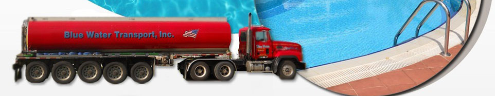 Blue Water Transport INc water delivery service in Saline Michigan