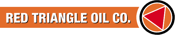 red triangle oil company logo