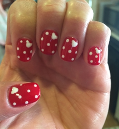 Nail Polish Spa Inc - Glendale, CA. Minnie Mouse nails