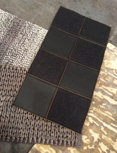 Marc Phillps Decorative leather rug riles