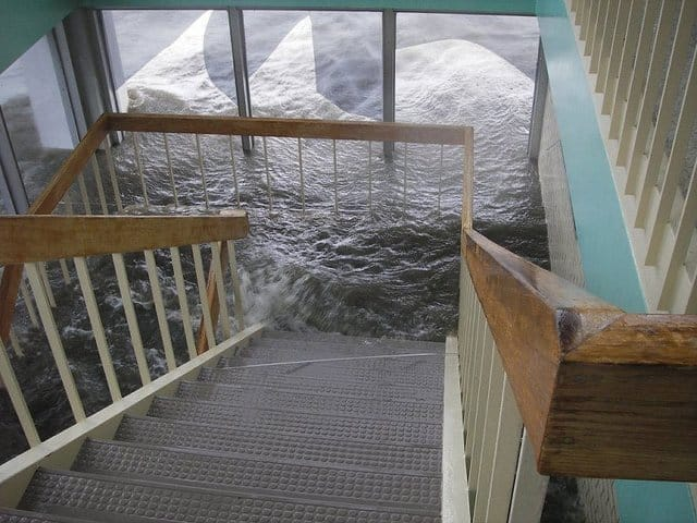 stairs water damage