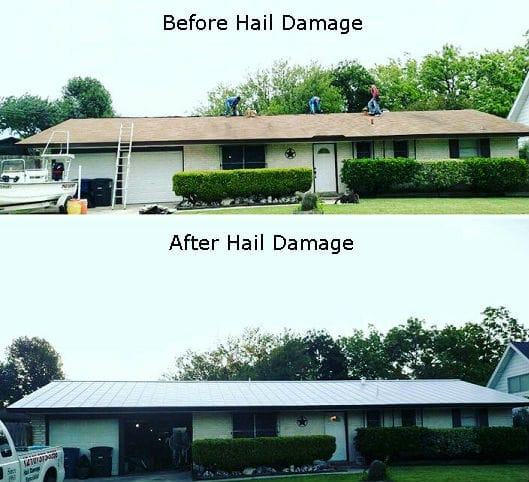 roofing contractors before after image
