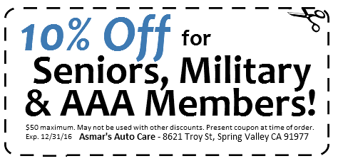 10% Off military-senior-AAA discount coupon