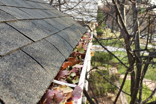Leaves in your gutter will prevent cleaning fluids from draining after washing.