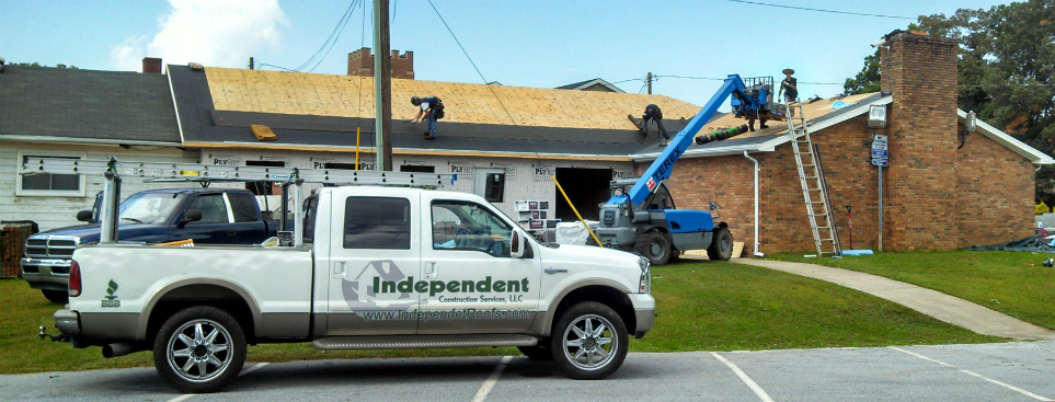 independent construction services truck