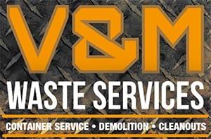 V & M Waste Services Logo