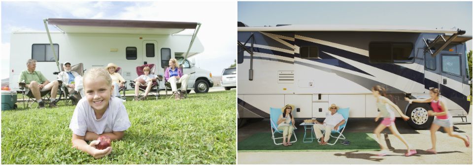 RV Camper Collage