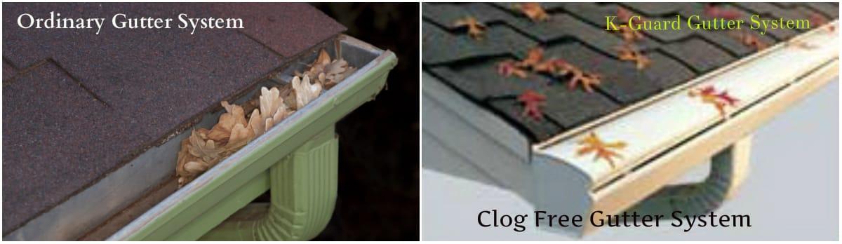 clog free gutter system