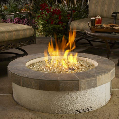 Stucco Outdoor Campfire