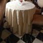 ASAP Linen Inc - Paterson, NJ. ASAP Linen, Ivory Majestic table cloths