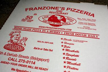 Franzone's Pizzeria & Restaurant, Bridgeport PA