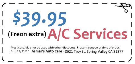 $39.95 A/C Services coupon