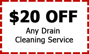 $20 Off Drain Cleaning Service