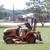 1 man mowing