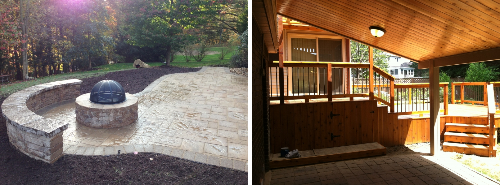 deck and hardscape