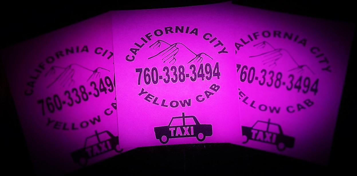California City Yellow Cab Company, California City CA