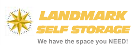Landmark self storage logo