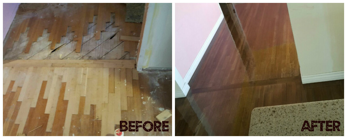 Flooring Before & After