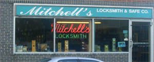 Mitchell's Locksmith storefront Philadelpia, PA