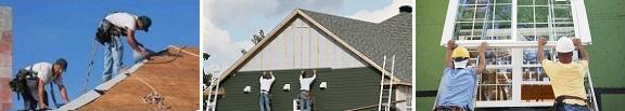 roof repairs, siding, window installations