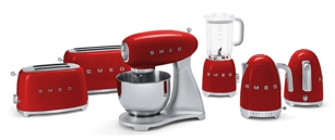 Smeg Appliances in Red, available at AJ Madison