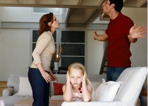 arguing family