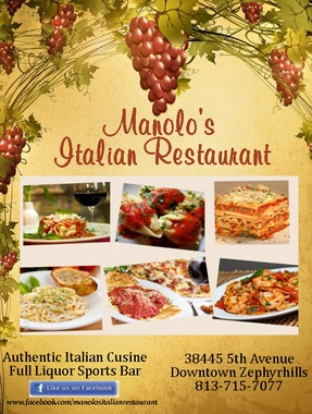 Manolo's Italian Restaurant, Zephyrhills FL