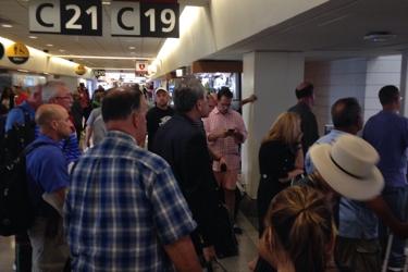Crowded terminal C