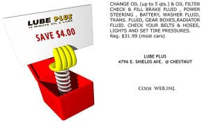 Coupon for $4 Off Your Next Oil Change or Automatic Transmission Flush
