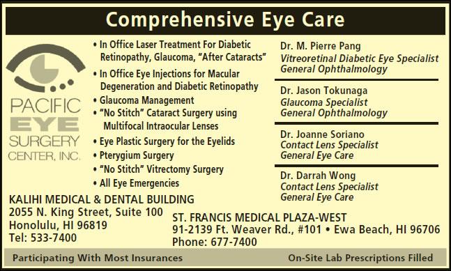Pacific Eye Surgery Center Inc