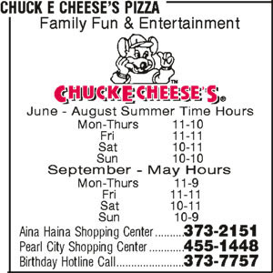 Chuck E Cheese's Pizza