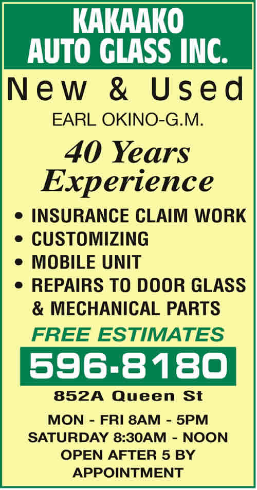 Kakaako Auto Glass Inc
