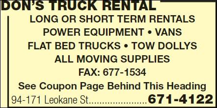 Don's Truck Rental