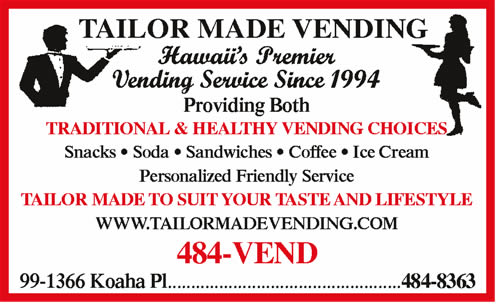 Tailor Made Vending Service