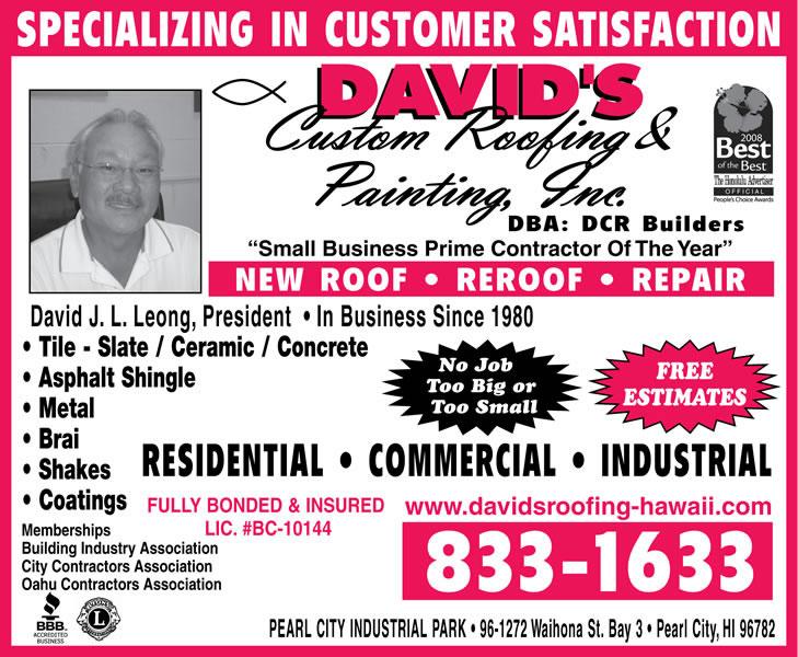David's Custom Roofing & Painting Inc