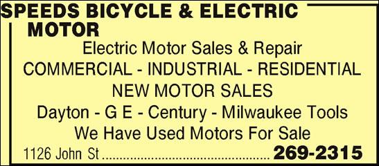 Speeds Bicycle Sales & Service