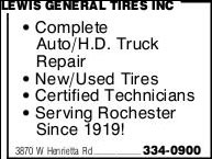 Lewis General Tires Inc