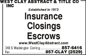 West Clay Abstract & Title Co Inc