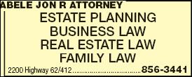 Abele Jon R Attorney