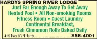 Hardys Spring River Lodge