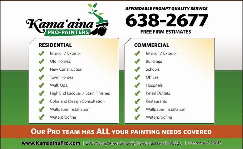 Kamaaina Pro Painters