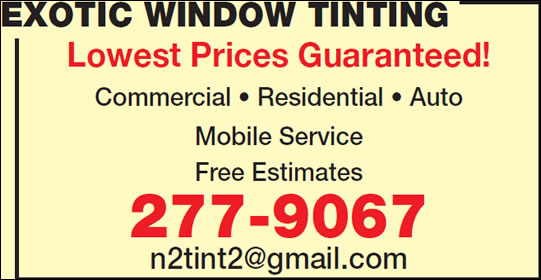 Exotic Window Tinting