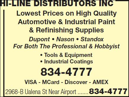 Hi-Line Distributors Inc