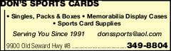 Don's Sports Cards