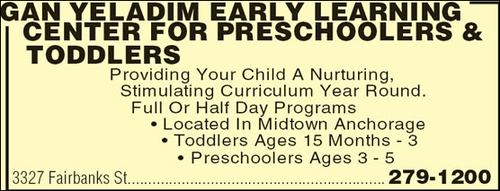 Gan Yeladim Early Learning Center For Preschoolers & Toddlers