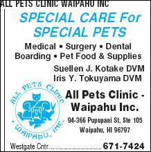 All Pets Clinic Waipahu Inc