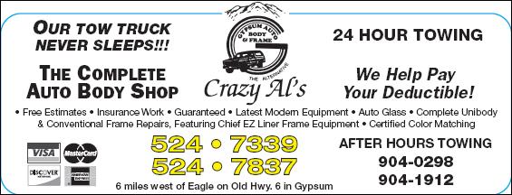 Crazy Al's Gypsum Auto Body & Frame